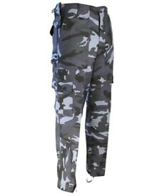 Kombat UK Mens Midnight Blue Cargo Pants