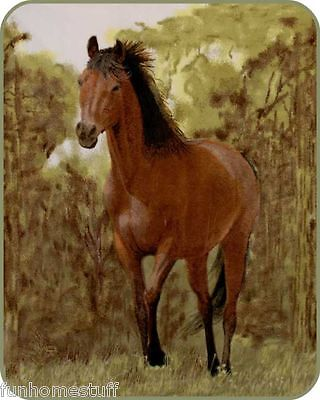 "Profound Soft Plush Warm Queen PAINTED TROTTING HORSE Bedroom Bed Blanket 79"" x 96"""