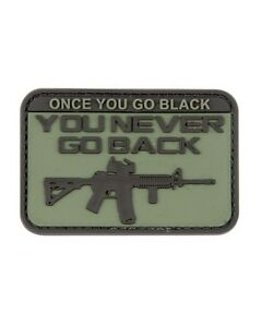 Once-You-Go-Black-ops-You-Never-Go-Back-PVC-Rubber-Badge-Military-Patch-Velcro