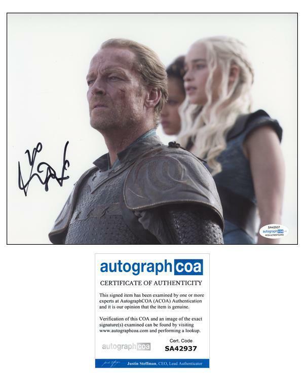 "Iain Glen ""Game of Thrones"" AUTOGRAPH Signed 'Jorah Mormont' 8x10 Photo B ACOA"