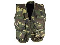 Kombat Kids Tactical Vest Dpm Woodland Camo Waistcoat Children Army Style