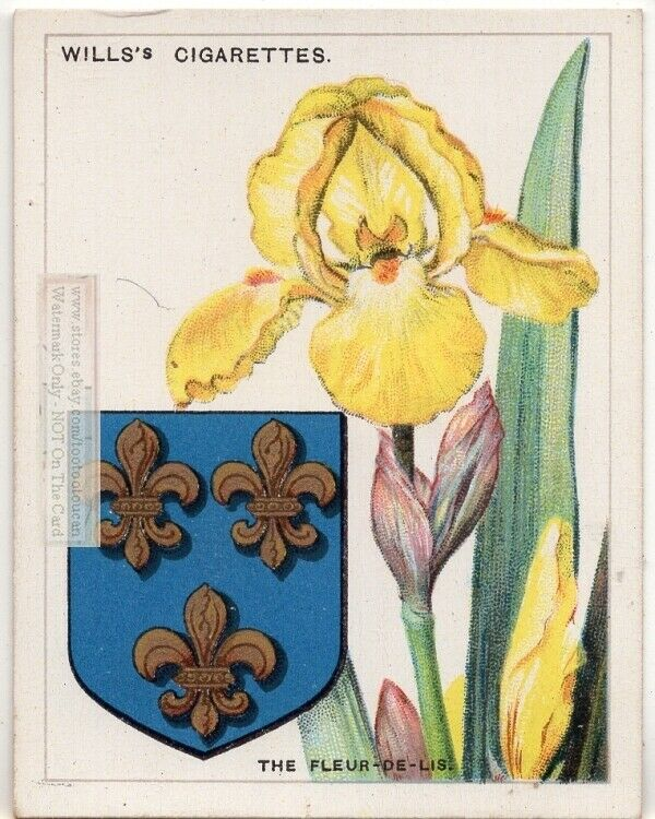 fleur-de-lis Flower Symbol Used On Coat Of Arms Or Family Crest 1920s Ad Card
