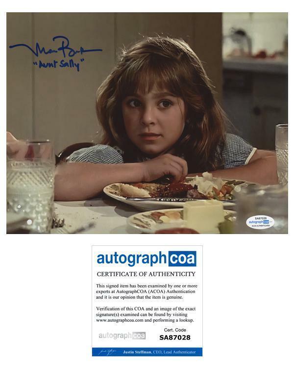 "Maia Brewton ""Back to the Future"" AUTOGRAPH Signed 'Aunt Sally' 8x10 Photo ACOA"