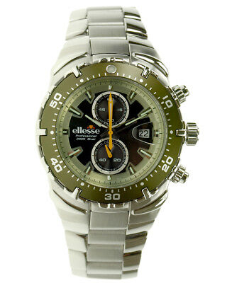 Army Bezel Wrist Watch - ellesse Divers Watch Army Green Bezel - Special Edition