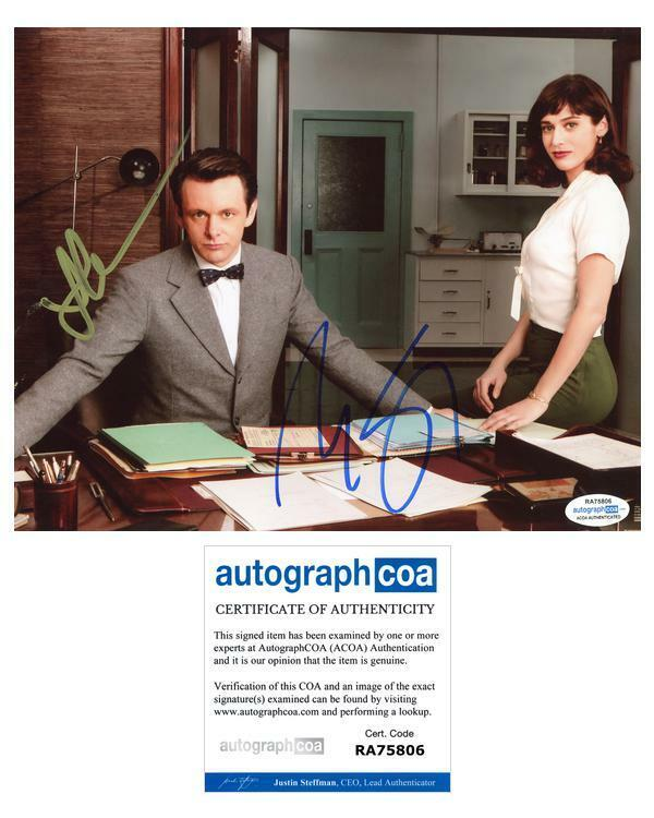 """Michael Sheen & Lizzy Caplan """"Masters of Sex"""" AUTOGRAPHS Signed 8x10 Photo ACOA"""