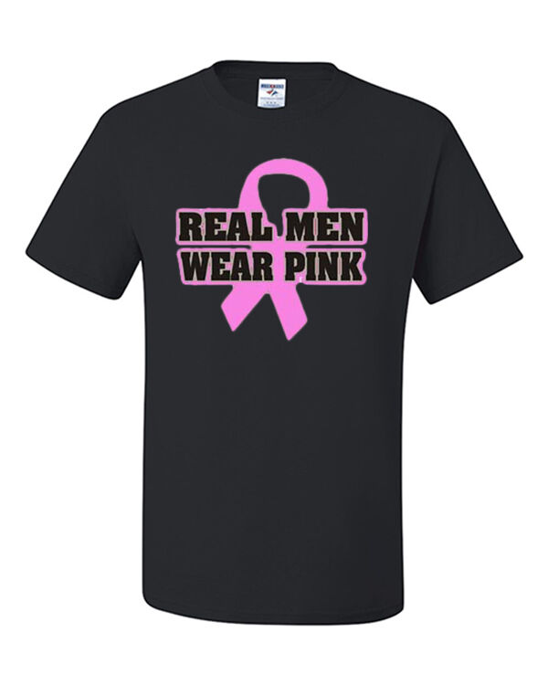 Real Men Wear Pink T-Shirt Breast Cancer Awareness Shirt Pink Ribbon Shirt