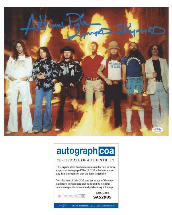 Lynyrd Skynyrd Artimus Pyle Autographed Signed 11x14 Photo Drummer ACOA