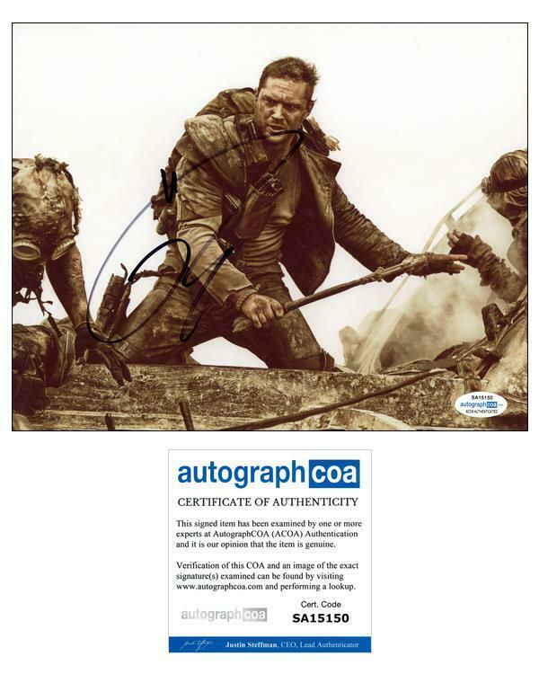 "Tom Hardy ""Mad Max: Fury Road"" AUTOGRAPH Signed 'Max Rockatansky' 8x10 Photo"