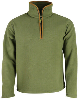 Maglia maglione termico invernale pile Zip caccia pesca lavoro montagna verde