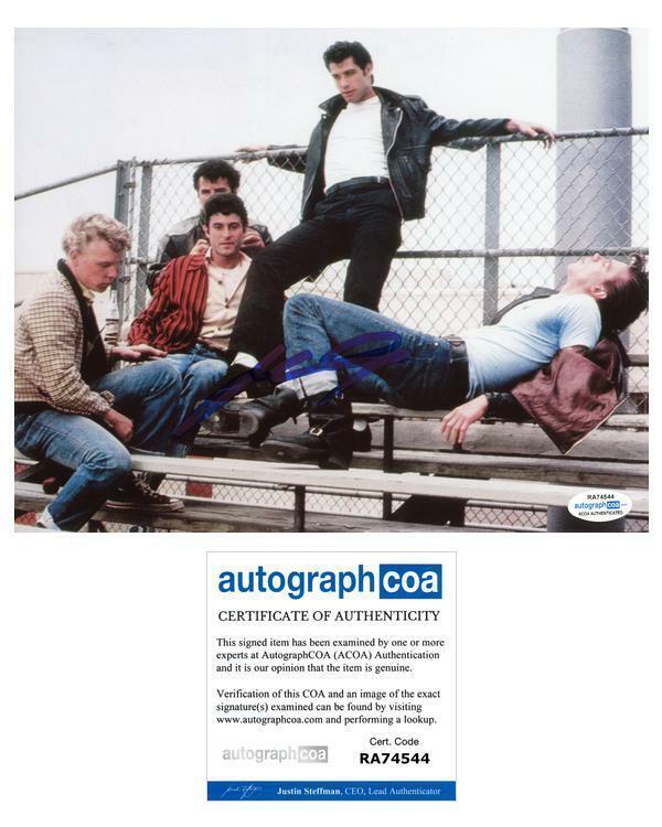 """John Travolta """"Grease"""" AUTOGRAPH Signed 8x10 Photo B ACOA"""