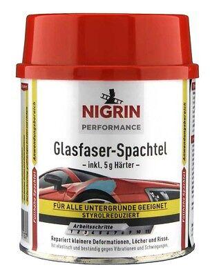 NIGRIN Glasfaser-Spachtel 250 g 72113 Spachtelmasse KFZ Reparaturspachtel