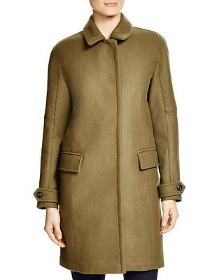 1395 NEW BURBERRY Brit Durringham Coat,2,Wool,Cashmere,LOGO,Gold Snap,Plaid,NWT