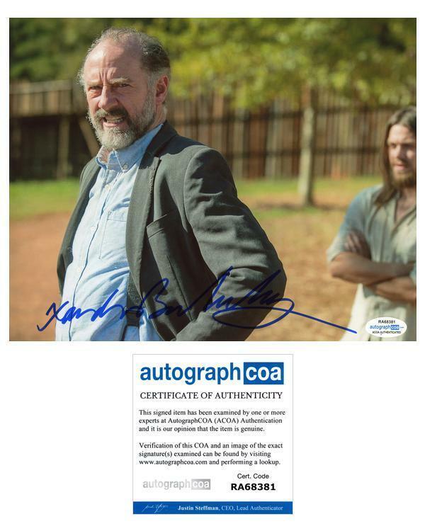 "Xander Berkeley ""The Walking Dead"" AUTOGRAPH Signed 8x10 Photo C ACOA"