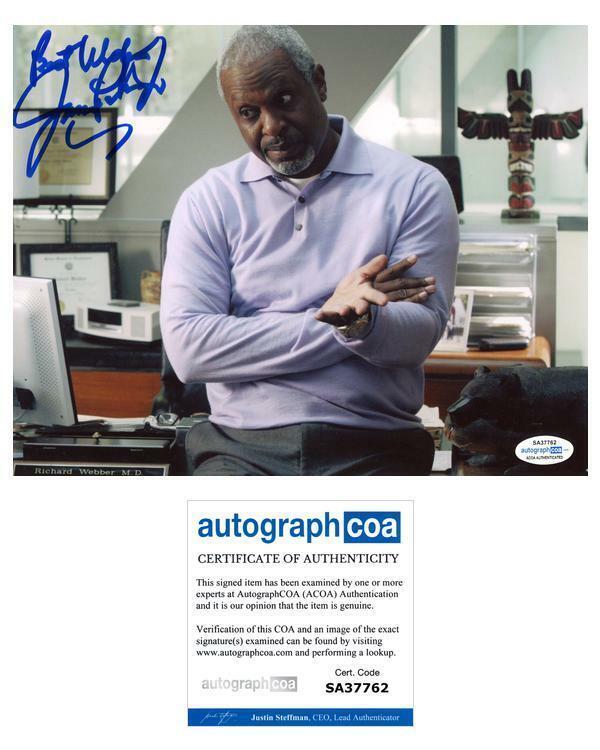 "James Pickens Jr. ""Grey's Anatomy"" AUTOGRAPH Signed 'Dr. Webber' 8x10 Photo ACOA"