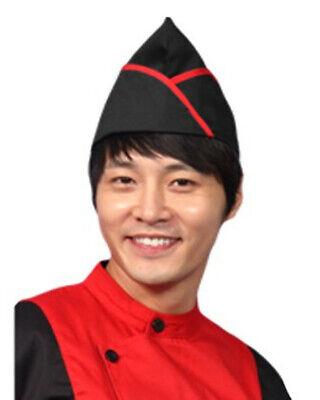 Black And Red Garrison Chef Hat Kitchen Chef Garrison Hat Garrison Chef Hats