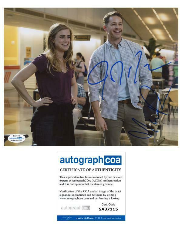 "Melissa Roxburgh & Josh Dallas ""Manifest"" AUTOGRAPHS Signed 8x10 Photo C ACOA"