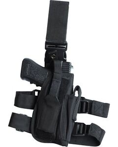 Black-Pistol-Leg-Holster-Tactical-Military-Security-Swat-Police-Army-SAS-Right