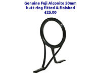 Fuji Alconite 50mm CARP ROD butt ring, FITTED & FINISHED drop off/collect Stretford, Manchester