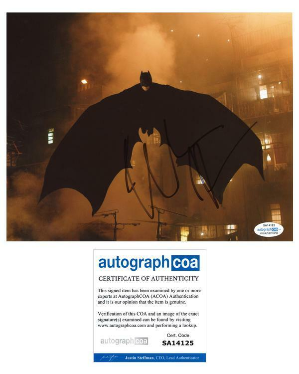 "Christian Bale ""The Dark Knight ""AUTOGRAPH Signed Batman 8x10 Photo B ACOA"
