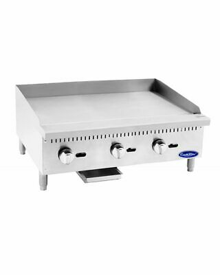 36 Inch Commercial Flat Top Grill Natural Gas Manual Griddle Nsf 3 Foot Wide