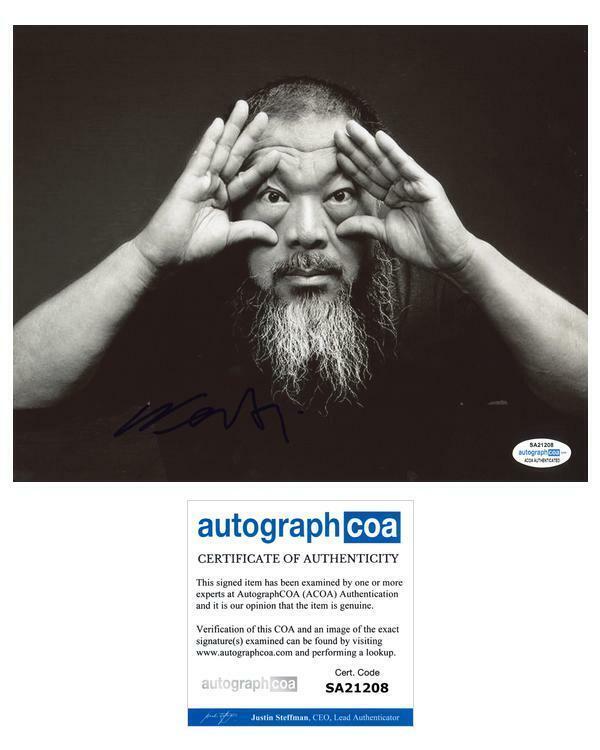 "Ai Weiwei ""Human Flow"" AUTOGRAPH Signed 8x10 Photo ACOA"
