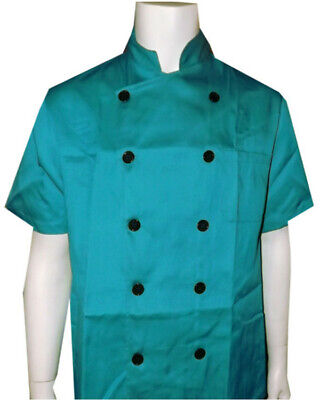 Chef Coat Restaurant Uniform Kitchen Chef Coat Men Women Short Sleeve Chef Coat