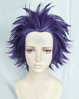 Dark Purple Wig (My Hero Academia Shinsou Hitoshi Shinso Short Dark Purple Cosplay Hair)