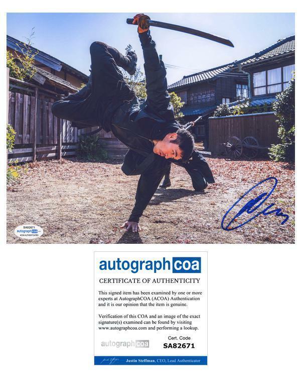 """Henry Golding """"Snake Eyes: G.I. Joe Origins"""" AUTOGRAPH Signed 8x10 Photo ACOA"""