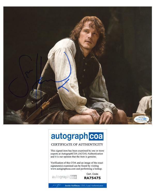"Sam Heughan ""Outlander"" AUTOGRAPH Signed 8x10 Photo ACOA"