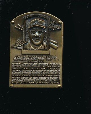 Joe Sewell  National Baseball Hall of Fame Gallery Bronze Plaque Cleveland Baseball Hall Of Fame Plaque