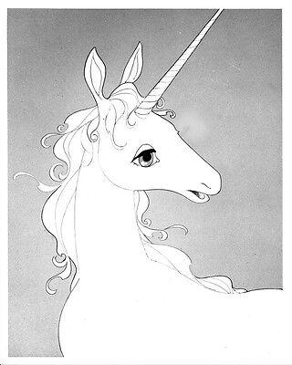 The Last Unicorn Photo     Black   White Print