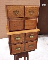 Antique oak library drawers
