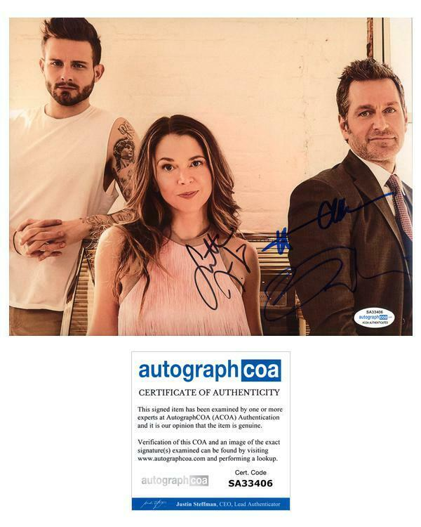 "Sutton Foster, Nico Tortorella & Peter Hermann ""Younger"" SIGNED 8x10 Photo B"