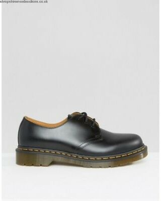 NIB MEN'S DR MARTENS BLACK SMOOTH 1461Z 3 EYELET SHOE UK 15 EU 51 US M 16