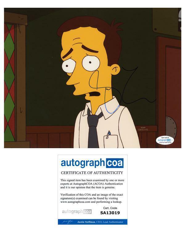 "Steve Carell ""The Simpsons"" AUTOGRAPH Signed 'Dan Gillick' 8x10 Photo ACOA"