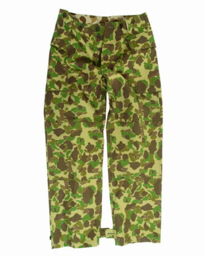 WWII U.S ARMY CAMOUFLAGE PATTERN PANTS BDU CARGO TROUSERS REPRODUCTION NEW