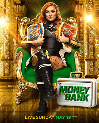WWE WWF Money in the Bank 2019 Poster 16x20 Becky