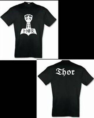 Thors Hammer Runen Thor T-Shirt Sweatshirt Kapu Hoodie S bis 6XL nordisch