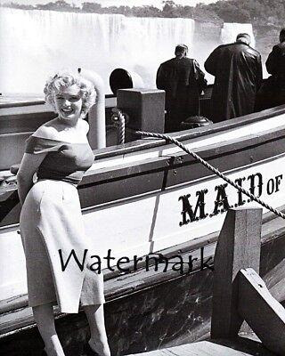 1950's Marilyn Monroe Niagara Falls Maid of the Mist Black & White 8 x 10 Photo