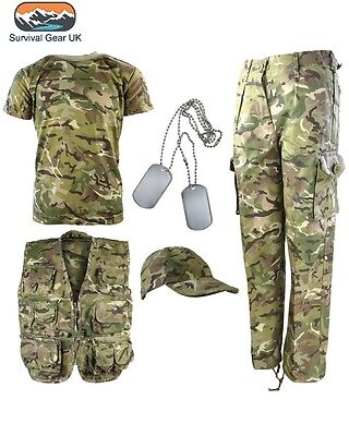 Kids Army BTP Camo Fancy Dress Children's Soldier Outfit Uniform FREE DELIVERY
