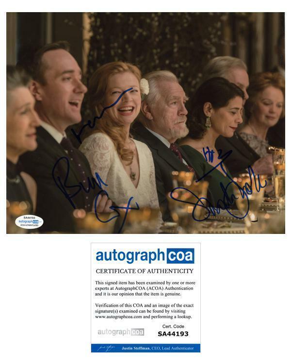 """Succession"" AUTOGRAPHS Signed 8x10 Photo - Brian Cox, Matthew Macfadyen +2 ACOA"