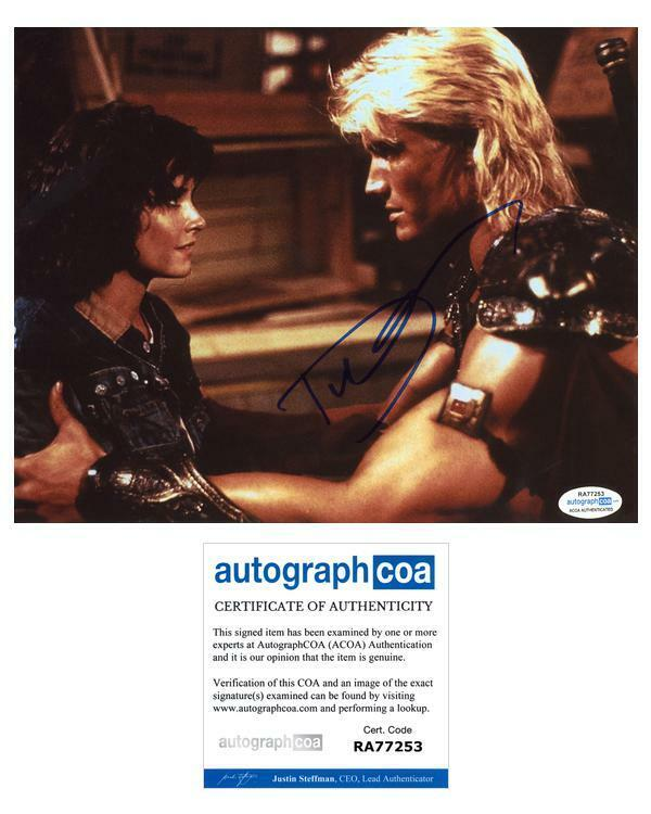 "Dolph Lundgren ""Masters of the Universe"" AUTOGRAPH Signed 8x10 Photo ACOA"