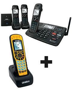 UNIDEN 8055+3WP XDECT CORDLESS PHONE SUBMERSIBLE WATERPROOF HANDSET LONG RANGE
