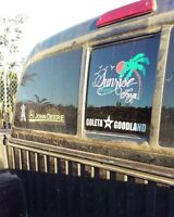 FREE SHIPPING custom decals.