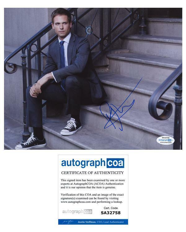 "Patrick J. Adams ""Suits"" AUTOGRAPH Signed 'Mike Ross' 8x10 Photo ACOA"