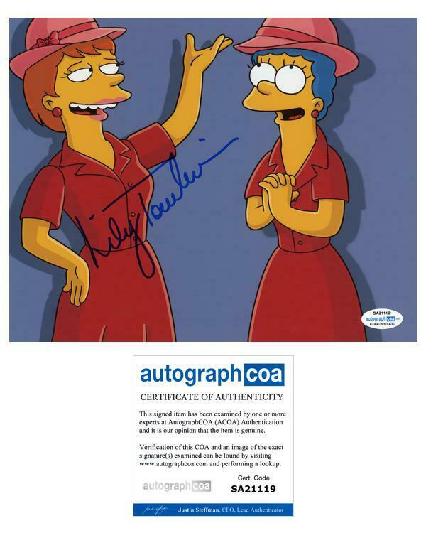 """Lily Tomlin """"The Simpsons"""" AUTOGRAPH Signed 'Tammy' 8x10 Photo ACOA"""