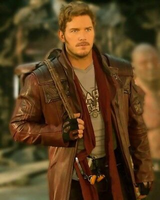 Mens Guardian of the Galaxy 2 Star Lord Chris Pratt Costume Leather Trench Coat](Trenchcoat Costume)