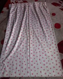Pink and cream dunelm curtains