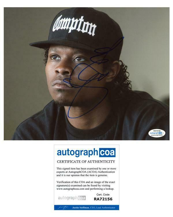 "Jason Mitchell ""Straight Outta Compton"" AUTOGRAPH Signed 8x10 Photo C ACOA"
