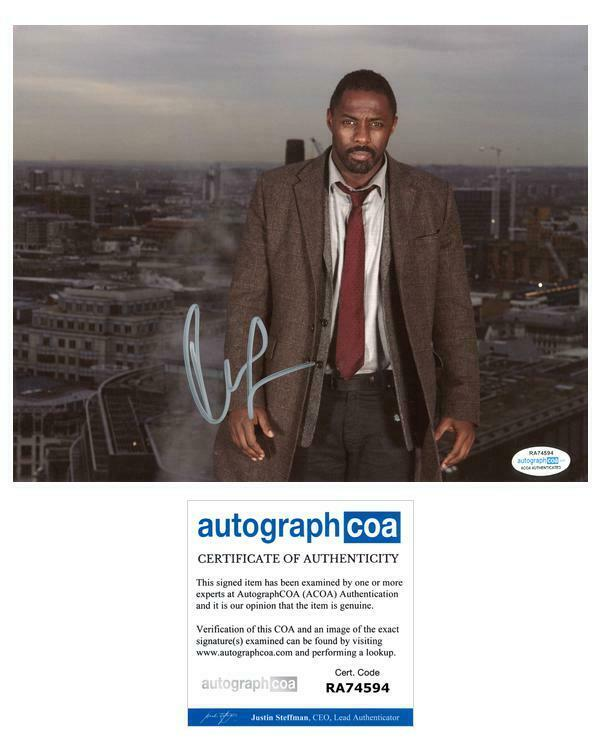 "Idris Elba ""Luther"" AUTOGRAPH Signed 8x10 Photo ACOA"